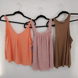 Free People Bundle 3 Tank Tops Size XS  New/NWOT